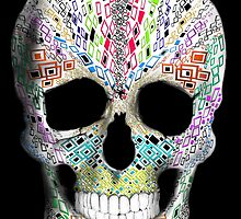 Skull Geo Deco by TinaGraphics
