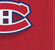 Montreal Canadiens Minimalist Print by SomebodyApparel