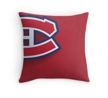 Montreal Canadiens Minimalist Print Throw Pillow