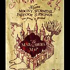 Harry Potter Marauder's Map iPhone Case by M Put