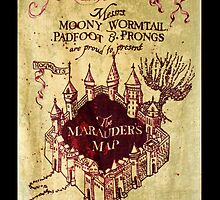 Harry Potter Marauder's Map iPhone Case by Marcel Putrus
