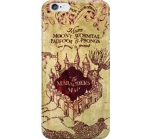 Harry Potter Marauder's Map iPhone Case iPhone Case/Skin