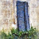 Shuttered windows, Fiesole, Italy by buttonpresser