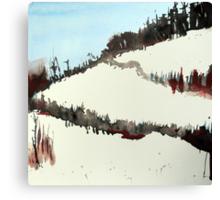 Mount Royal #5, Montreal, watercolour Canvas Print