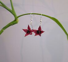 Origami Lilly Earrings by orijamijewels