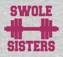 Swole Sisters Pink Ink - Women's Workout Tee. Crossfit Tee. Exercise Tee. Running Tee. Fitness by Max Effort