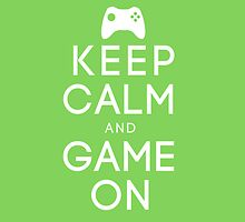 Keep calm game on white by theonlynonam