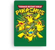Teenage Mutant Ninja Pikachus Canvas Print