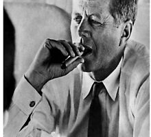 JFK Smoking by bhm57