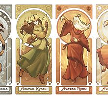 Art Nouveau Avatars - Four Seasons by swadeart