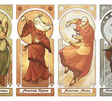 Art Nouveau Avatars - Four Seasons (Reorder) by swadeart