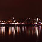 The Peace Bridge At Night by Adrian McGlynn