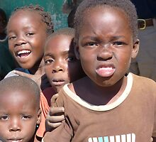 Village kids, near Mfuwe, Zambia by Tessa Manning