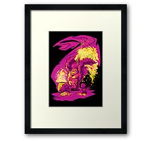 BARREL CHUCKER Framed Print