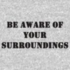 Be aware of your surroundings by rjburke24