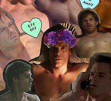 Michael C. Hall (Shirtless Collage) by Crystal Friedman