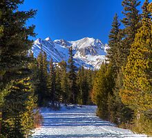 Brainard Lake Road in Winter by activebeck2012