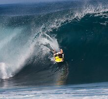 Jeff Hubbard at Banzai Pipeline .2 by Alex Preiss