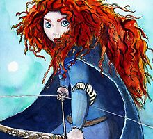 Merida with Bow by ArtbyJoshua