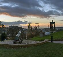 Edinburgh Panoramic Sunset from Calton Hill by Miles Gray
