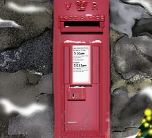 Traditional Red Post Box Christmas design by Grant Wilson