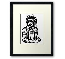 Heart of a Lionel - Old School Retro Hipster Framed Print