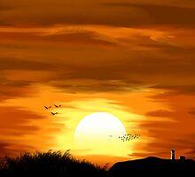 Countryside Sunset by Kanishk Rathore
