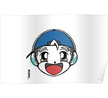 The Original Tishatsu Logo - Note, music, cute, face, anime, chibi, manga,  Poster