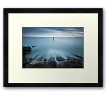 Time to reflect...7 minute exposure on Eastbourne seafront Framed Print