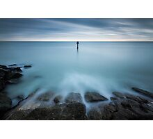 Time to reflect...7 minute exposure on Eastbourne seafront Photographic Print