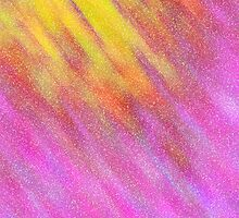 Glittery Sunburst - Pink and Yellow by lolohannah