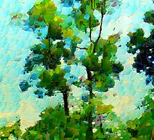 A Leonid Style Painting of Trees by Dennis Melling
