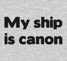 My ship is canon shirt by Merwok