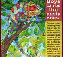 Up on the catwalk (Panther chameleon) - POSTER by Gwenn Seemel