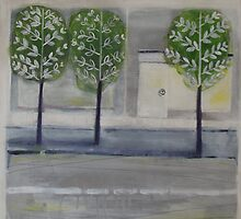 Silver birches by Debbie Allardyce