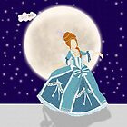 Colonial Girl ipad case by brightnote