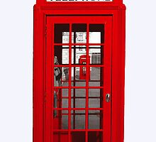 London Telephone Red by gervan