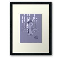 Leia on the Death Star Framed Print