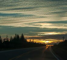 Sunset In Cape Breton Highlands National Park by Gary Chapple