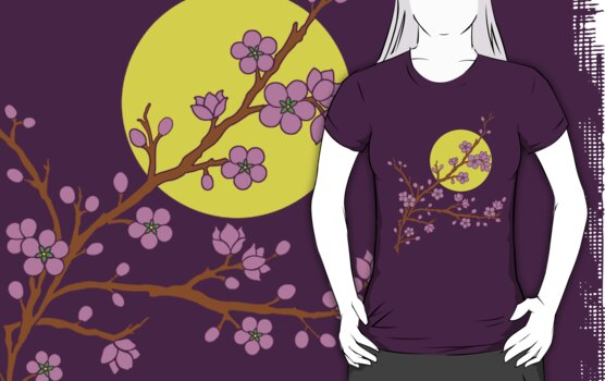 Plum Blossom Moon by mingtees