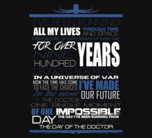 The Day of The Doctor by jblee22