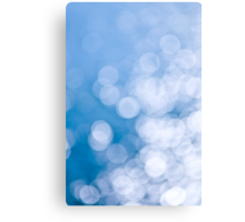 Blue and white background Canvas Print