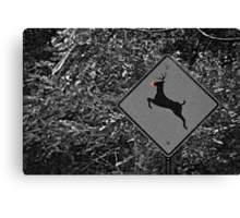 Caution: Reindeer Crossing Canvas Print