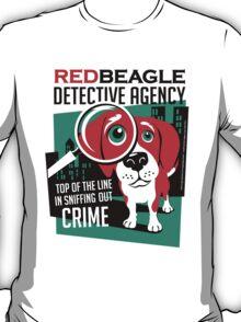 Red Beagle Detective Agency Retro T-shirt- original art T-Shirt