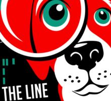 Red Beagle Detective Agency Retro T-shirt- original art Sticker