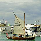 Leaving Yarmouth Under Sail by Rod Johnson