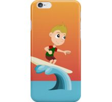 Surfing boy cartoon iPhone Case/Skin