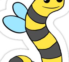 BeeWorm on dark Sticker