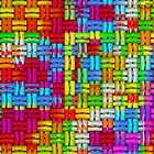 Colorful woven pattern by RosiLorz