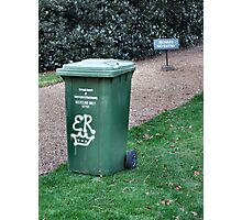 Wheelie Bins of the Rich and Famous Photographic Print